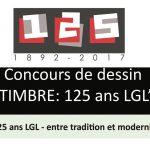 """Concours de dessin """"Timbre 125 ans LGL"""""""