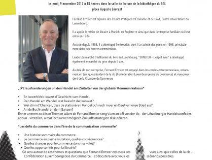 Conférence : Les défis du commerce dans l'ère de la communication universelle - Fernand Ernster