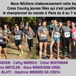 LASEL – L'équipe Cross Country des jeunes filles du LGL se qualifie pour le championnat ISF à Paris
