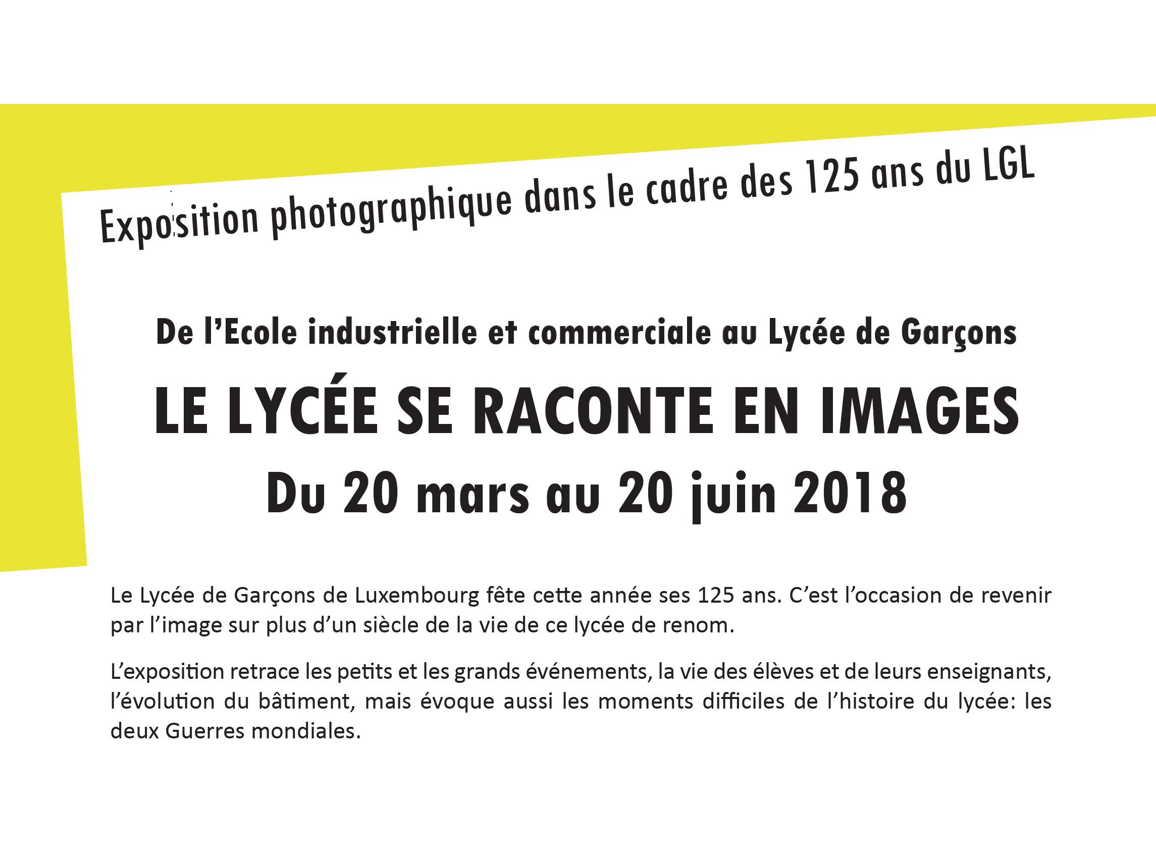 Exposition photographique du 20 mars au 20 juin 2018