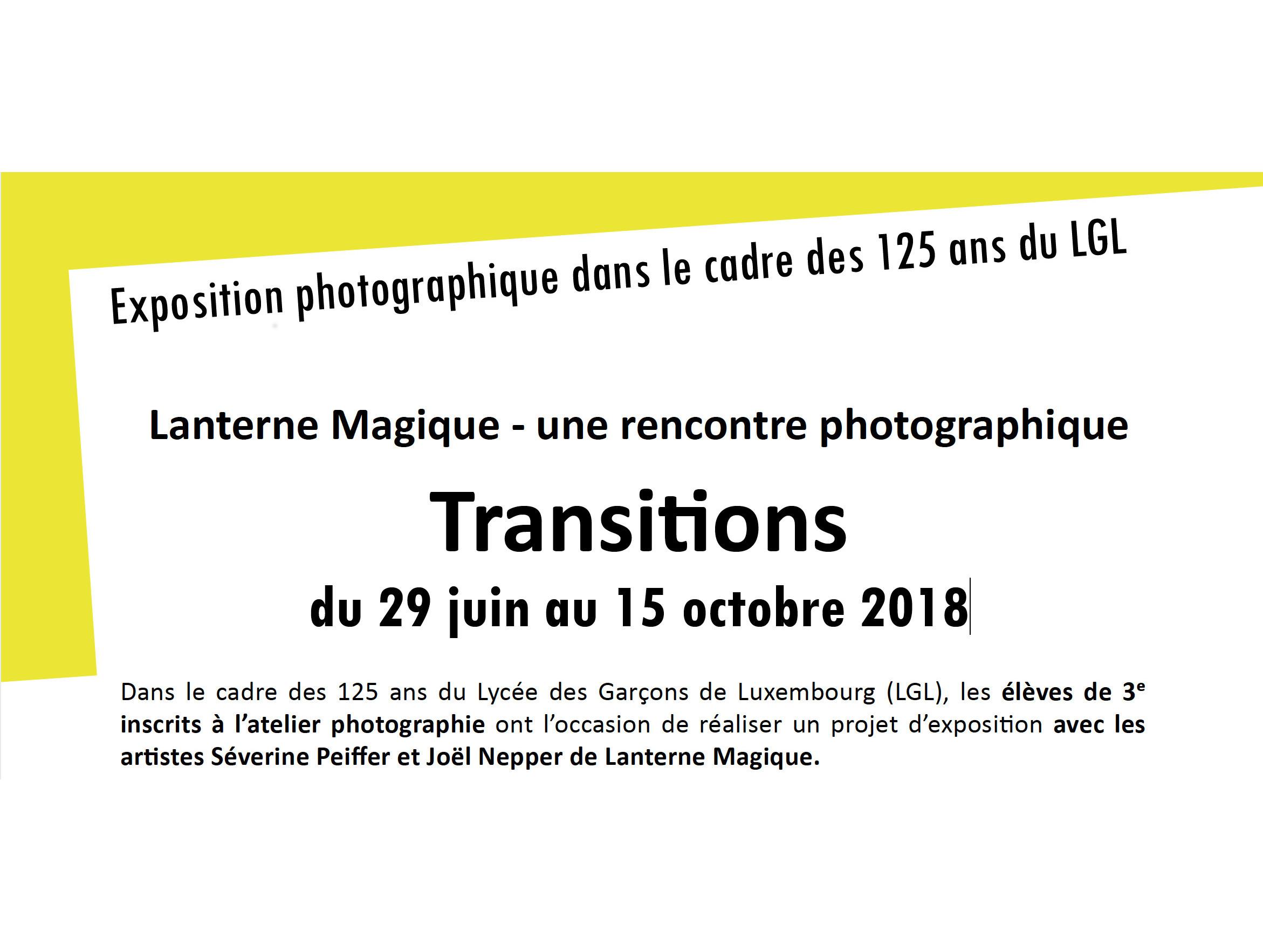 Exposition photographique du 29 juin au 15 octobre 2018
