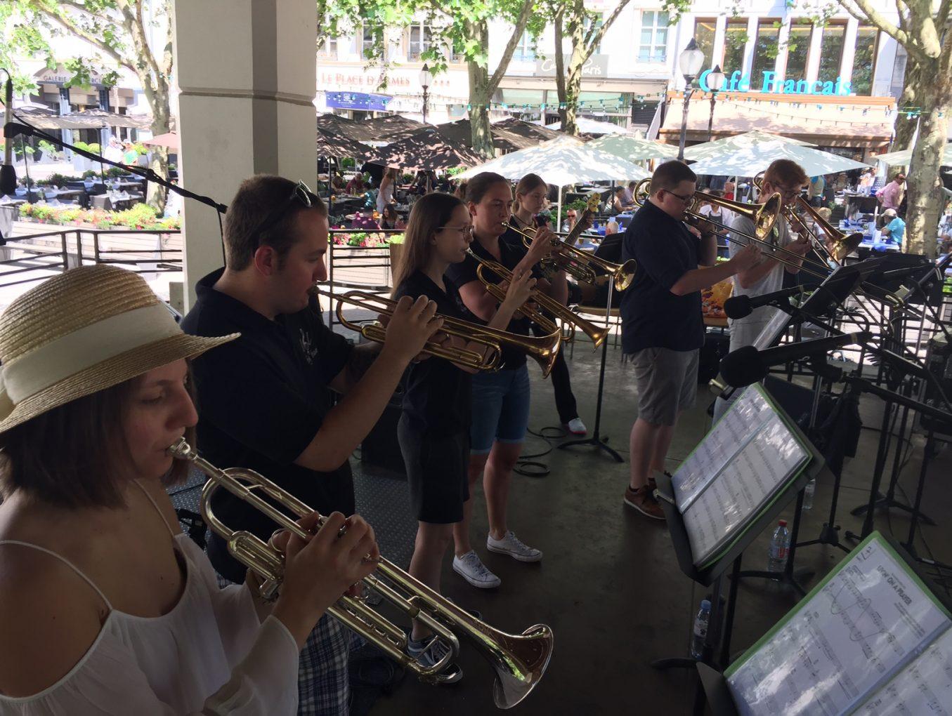 Le LGL Big Band en concert sur la Place d'Armes