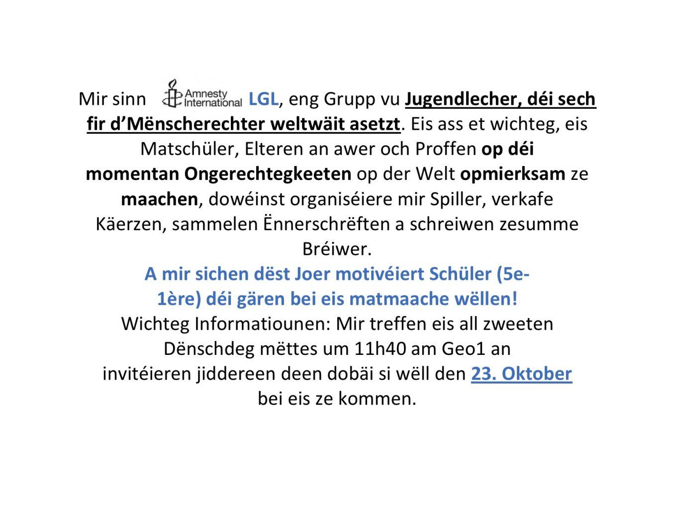 Amnesty International LGL