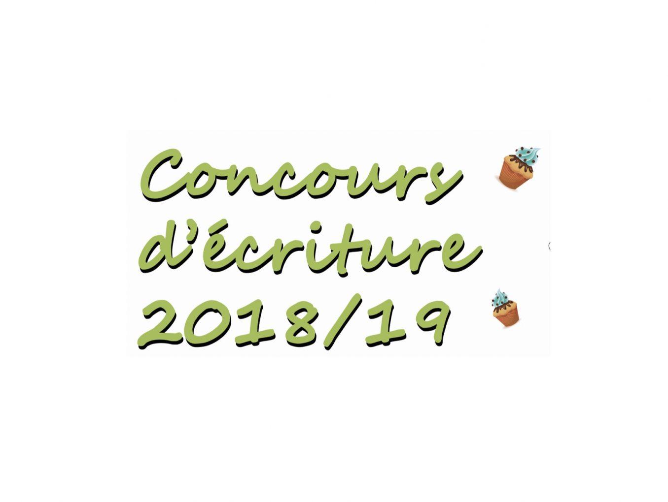 Concours d'écriture 2018/2019