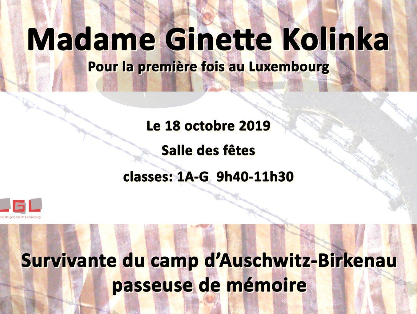 Ginette Kolinka - 18 octobre 2019