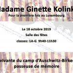 Ginette Kolinka – 18 octobre 2019
