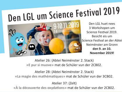 Science Festival du 7 au 10 novembre