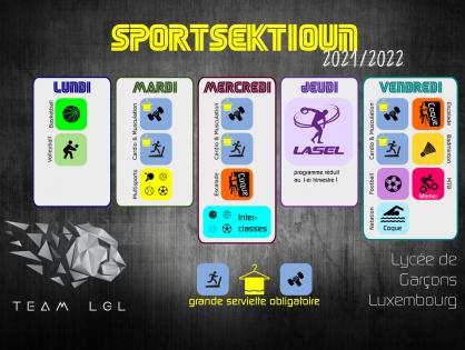 Sportsektioun 2021/2022 - Wou bleifs du?